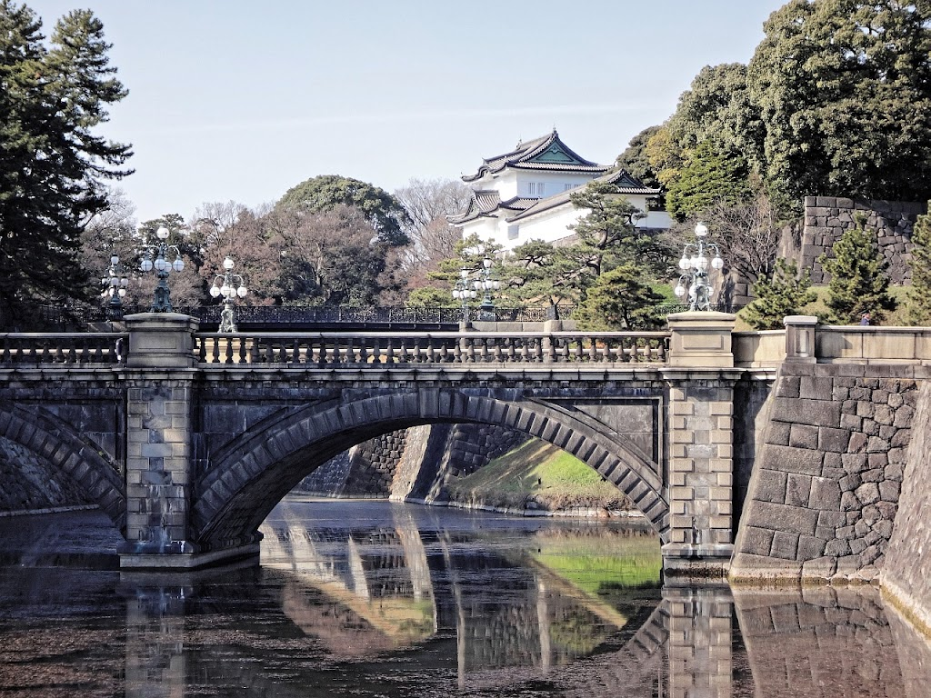 Nijubashi bridge at the Imperial Palace, Tokyo, Japan