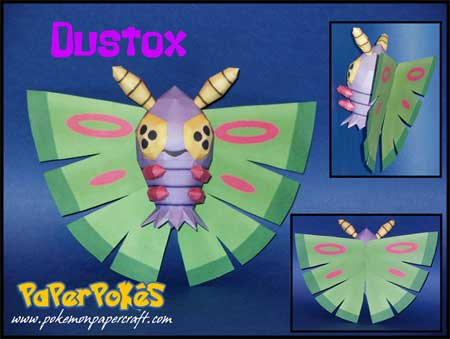 Pokemon Dustox Papercraft