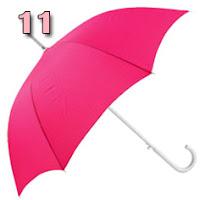 sombrinha pink com o cabo branco