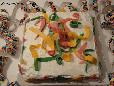 Torta colorata per Carnevale - Torta allegria