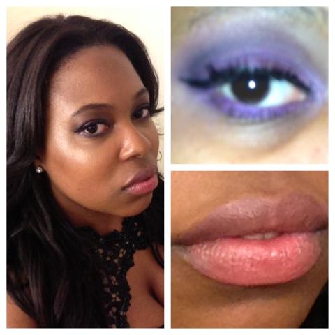 Wedding Guest Glam Purple Smokey Eyes Pouty Neutral Lips Yo
