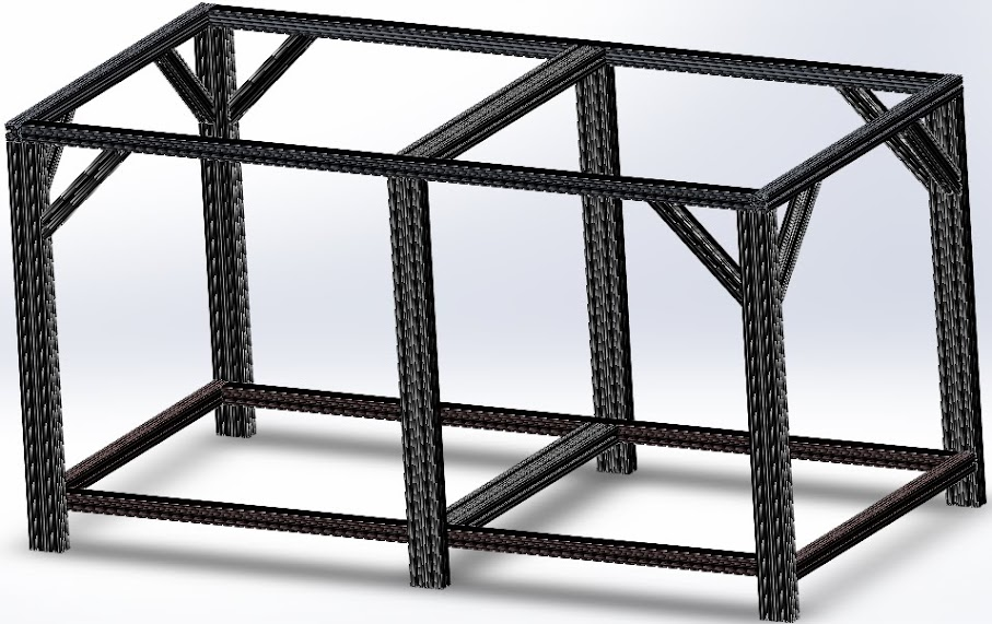 Any One Build The Stand With T Slotted Aluminum Extrusion