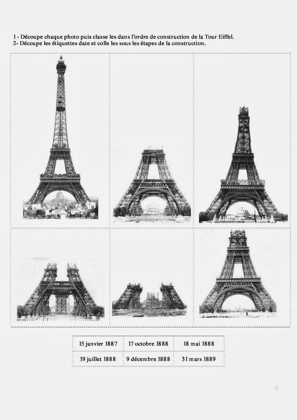 Tour Eiffel Dessin A Colorier