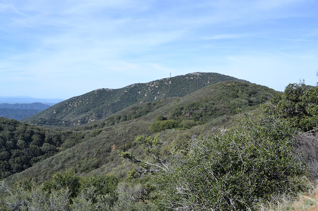 peak along a ridge