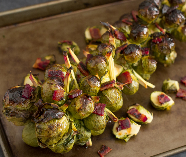 photo of Bacon Honey Sriracha Brussels Sprouts on the Stalk