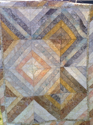 Sea Goddess Treasures Seashell Strata Quilt Using