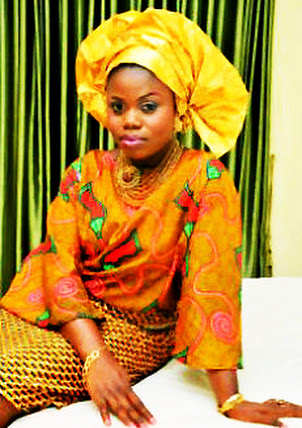 Yoruba bride, yellow and gold