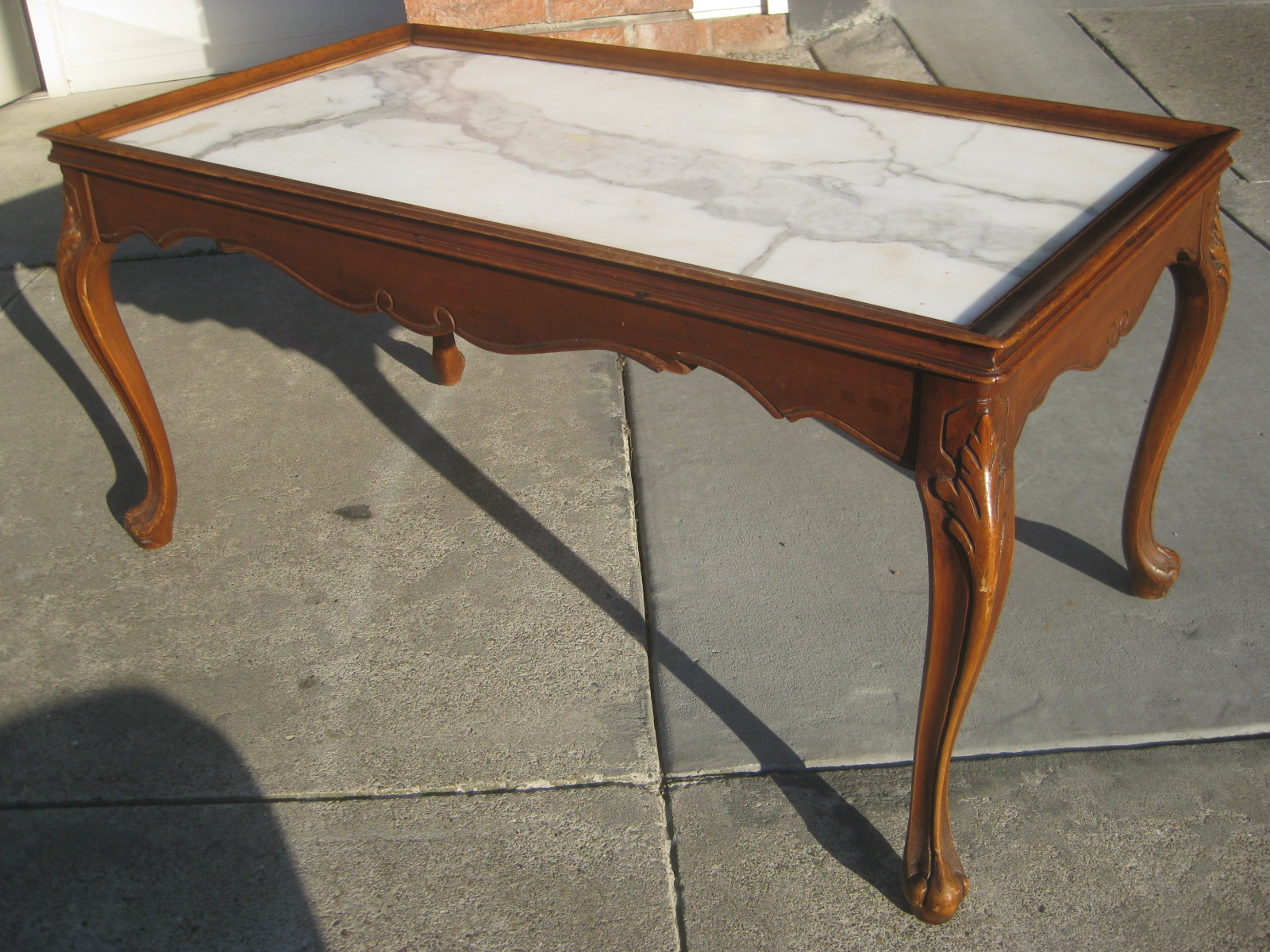 Uhuru Furniture Collectibles Sold Italian Marble Coffee Table 60