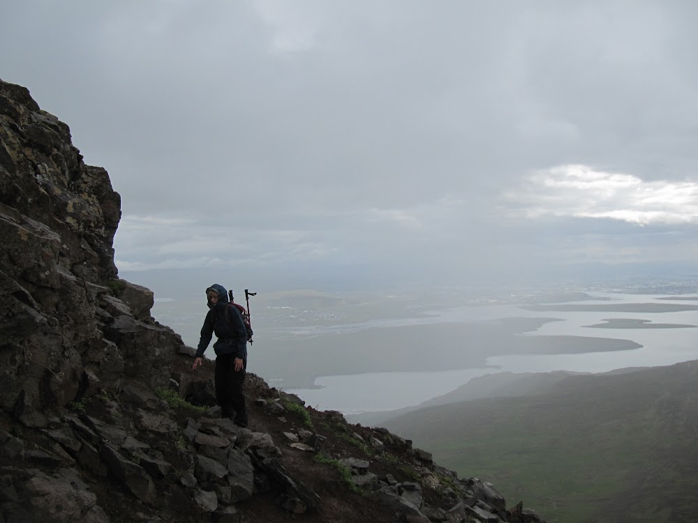 At the top of Esjan