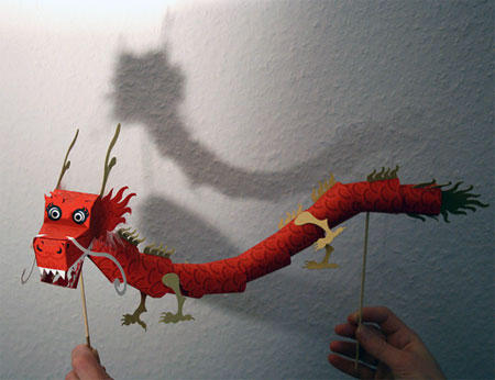 2012 Chinese New Year Dragon Paper Toy