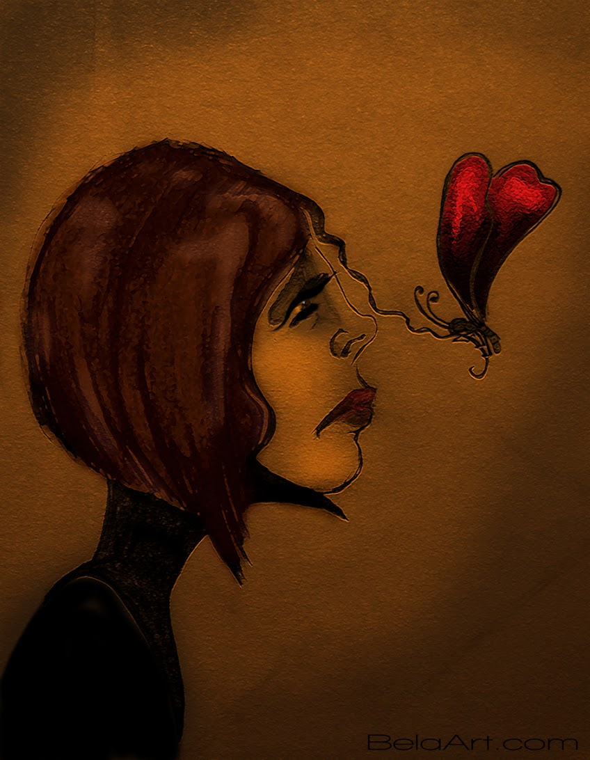 the butterfly graphic by Izabela Wojcik