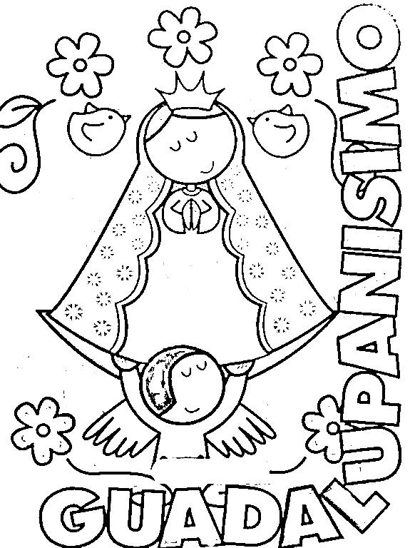 Pinto Dibujos: Dibujos de la Virgencita Plis para colorear