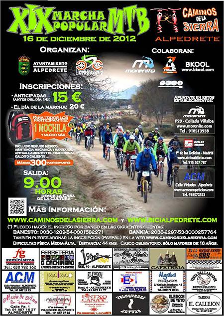 XIX edición Caminos de la Sierra, 16 de diciembre de 2012