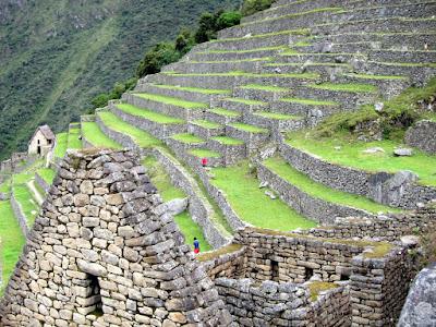 Inca ruins in Machu Picchu Peru