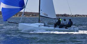 J/70 one-design sailboat- speedster sailing fast