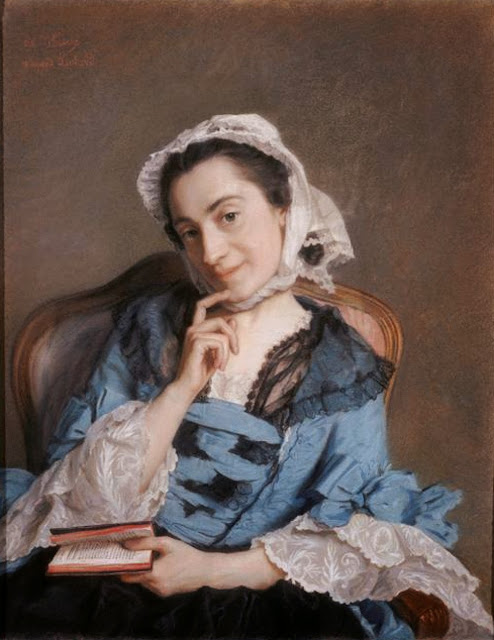 Jean-Etienne Liotard - Portrait of Louise d'Épinay