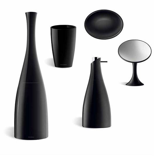 Set accessori bagno cosmic saku bicchiere dispenser - Cosmic accessori bagno ...