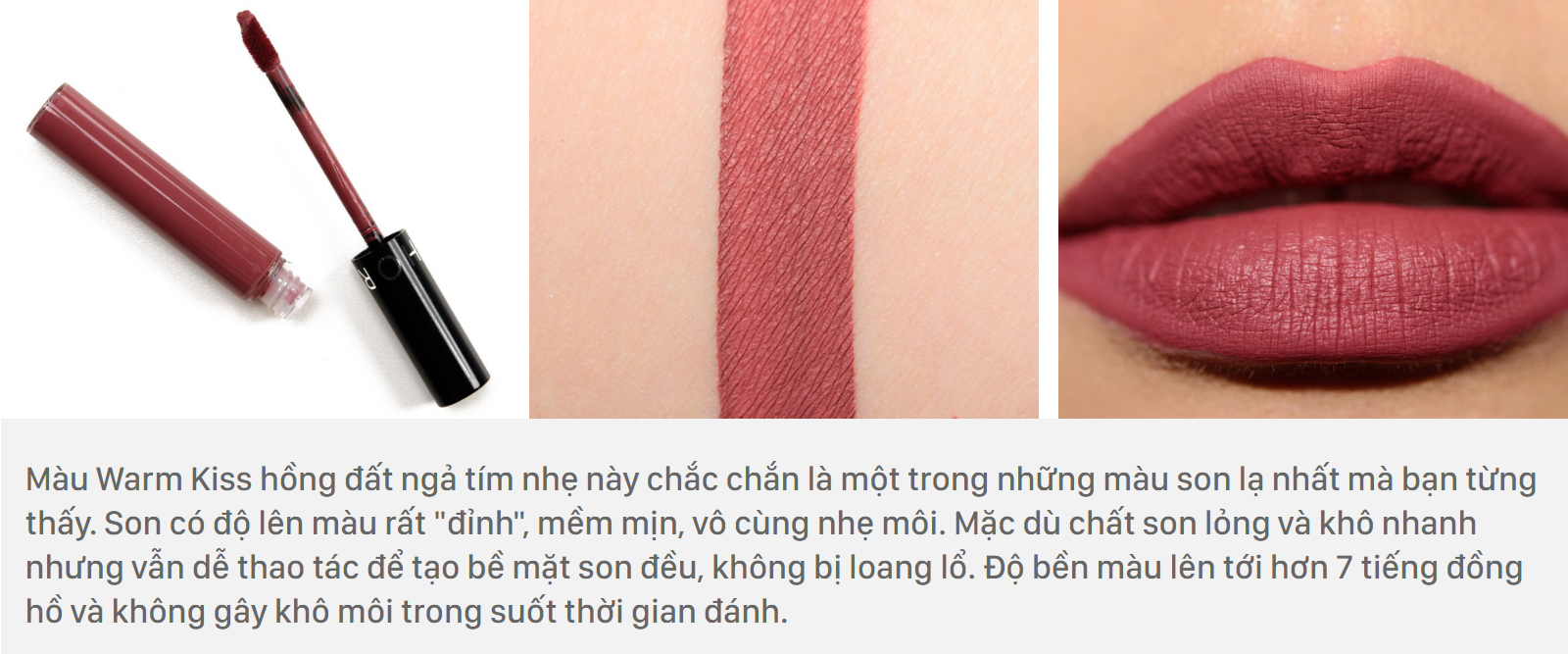 Sephora Cream Lip Stain màu Warm Kiss