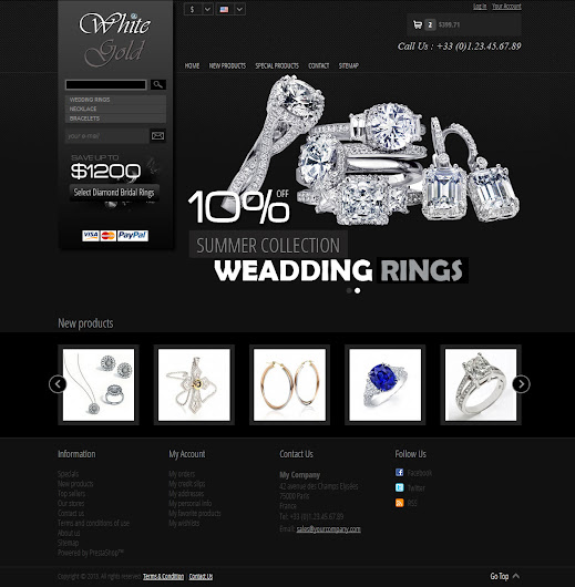 Home Page - White Gold 1.0 Prestashop Themes
