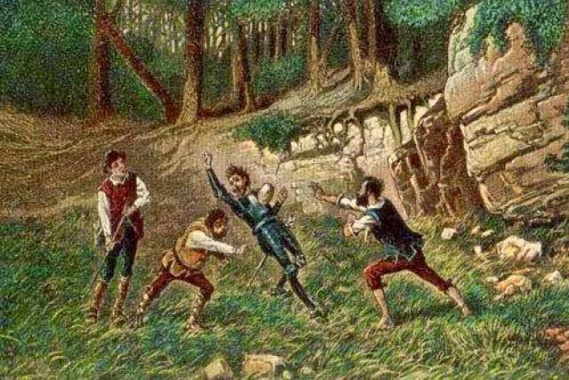 Cardenio ataca a don Quijote