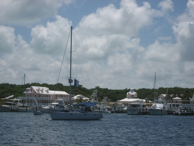 Hope Town Marina across the harbor