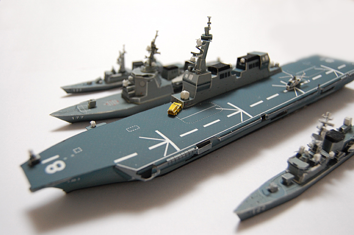 Ddh 181 Hyuga Class Helicopter Destroyer Papercraft