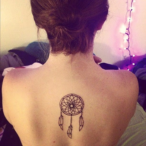 upper back Dreamcatcher Tattoos