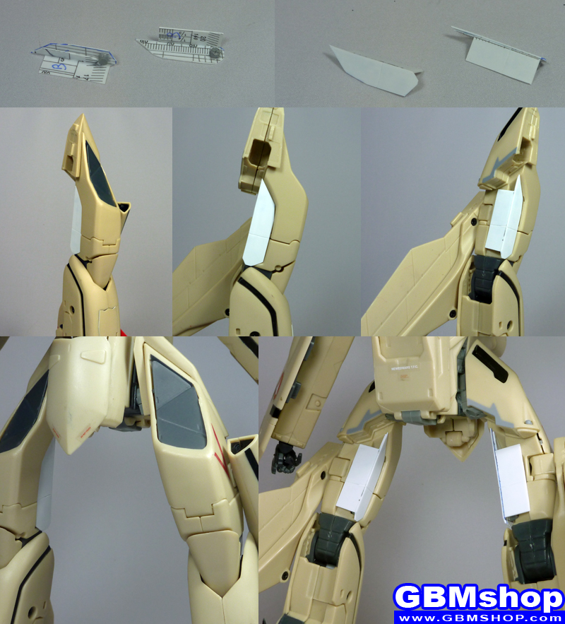 Macross Plus VF-19A Black Excalibur leg improvement