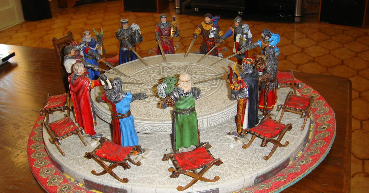 Les figurines de bernard sauvat les chevaliers de la - Les principaux chevaliers de la table ronde ...