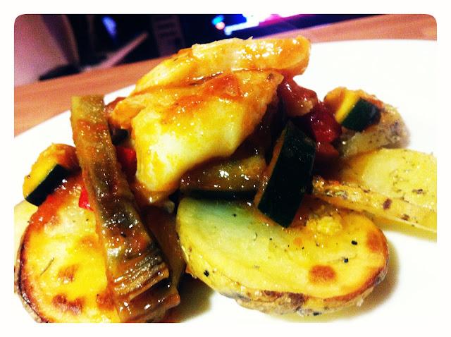 pisto con bacalao y patatas confitadas restaurante a domicilio Mejor en casa