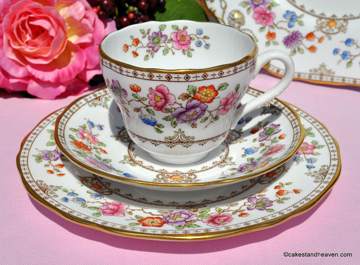 Spode Lauriston Bone China Teacup Trio c.1962