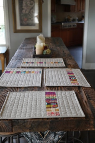 quilted placemats