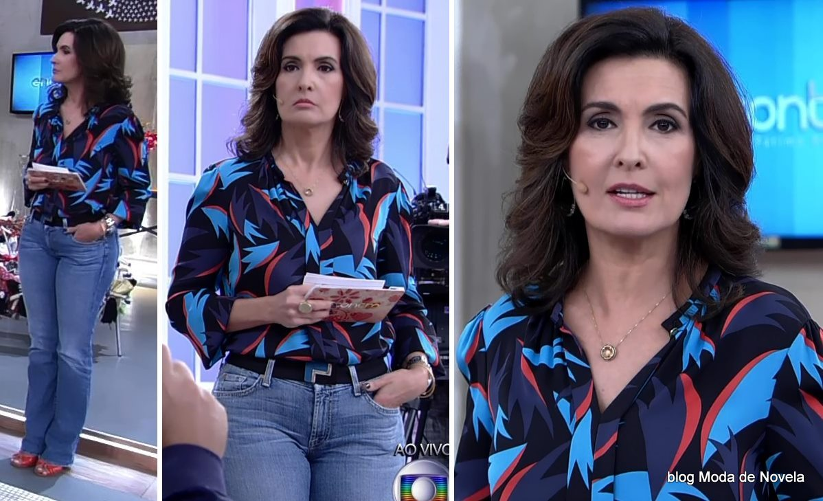 moda do programa Encontro - look da Fátima Bernardes dia 22 de maio