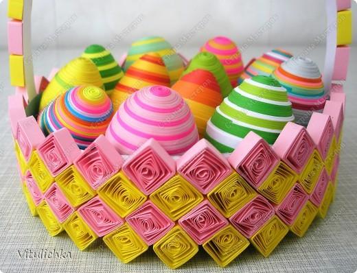 пасхальные яйца в корзиночке