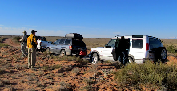 Parked on Robber's Roost Flats for a hike to Bluejohn Spring