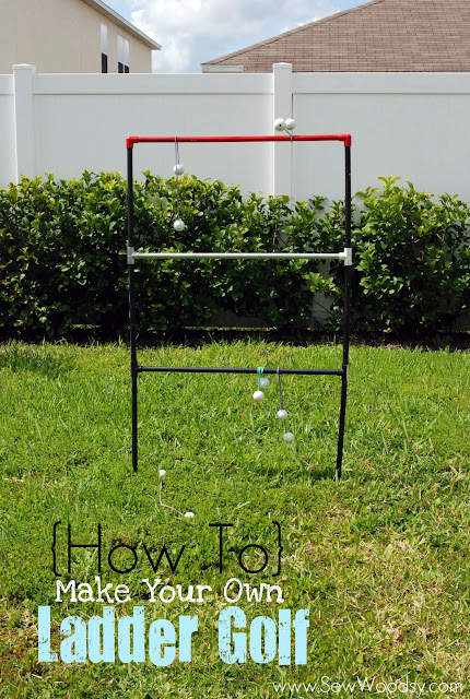 DIY Ladder Golf Game created by SewWoodsy.com #DIY #SummerGames