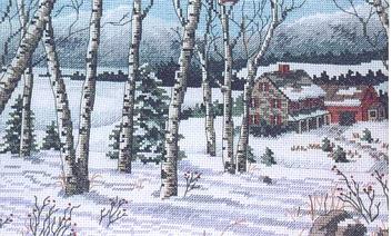 Birch winter cross stitch patterncross stitch pattern