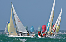 J/80 sailing in France at Nationals
