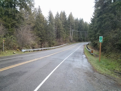 The cutoff to reach the trail