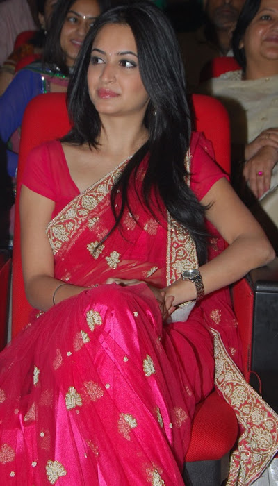 kriti kharbandha in red saree actress pics