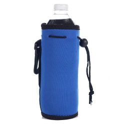 Neoprene Water Bottle Drawstring Insulator Cooler Koozie, Royal Blue by Bags for Less