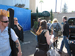 We all pile in to the Ellen studio on the WB lot