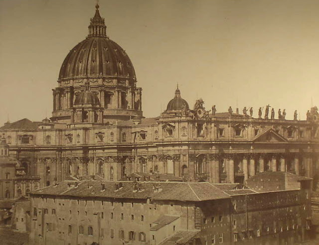 Rome - St. Peter's Dome in the Vatican, Before 1872, By Robert MacPherson (1811-1872)