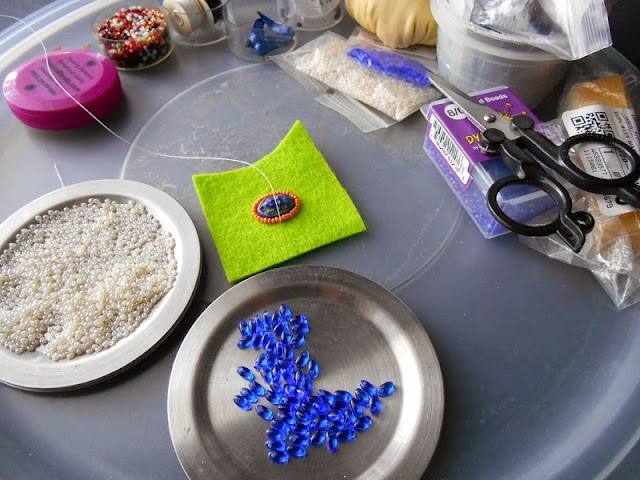 Pendant and Rizo Bead Works in Progress