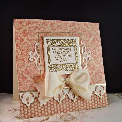 Invitación con estampado antiguo para boda