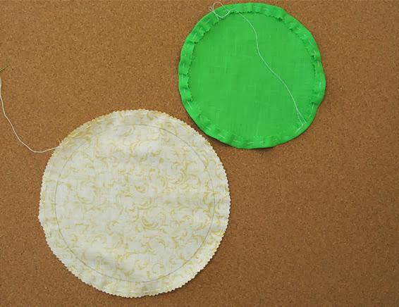 Círculos de tecidos