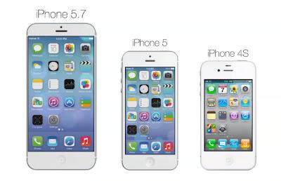 2014年にもリリースされるといわれている大画面iPhoneのイメージ