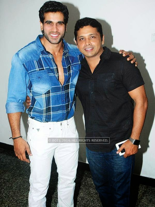 Rajeev Pilla and Deepu Santh spotted at the star studded celebrity cricket launch in Kochi.