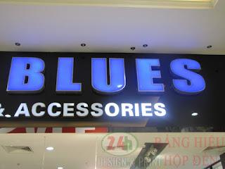 Thi cong hop den mica blue