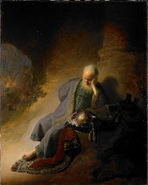 REMBRANDT Jeremiah lamenting the destruction of Jerusalem 1630